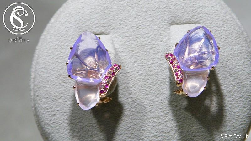 Coppia orecchini in oro bianco